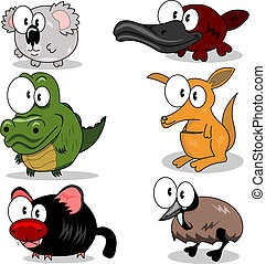 Cartoon animals - Some cartoon animals (koala, crocodile,...
