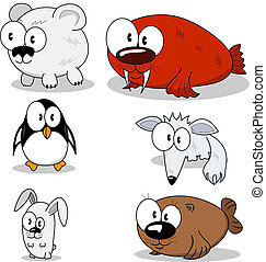 Cartoon animals - Some cartoon animals polar bear, penguin,...