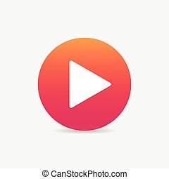 Play button web icon - play sign icon button , web icon for...