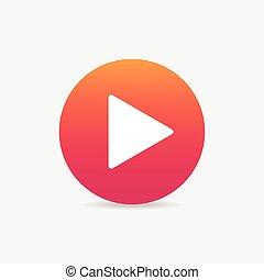 Play button web icon - play sign icon button , web icon for...