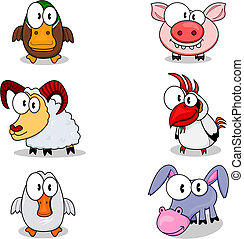 Cartoon animals - Some cartoon animals duck, ram, goose,...