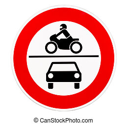 No access for motor vehicles traffic sign