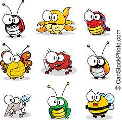 spotprent, insecten