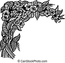 jasmine branch - A branch of a jasmine with flowers and...