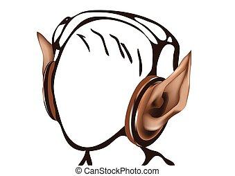headphones as elf ears