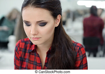 Professional Make-up - Young Girl in the beauty salon...