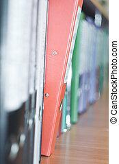 File Stack, file folder close up for background. - File...