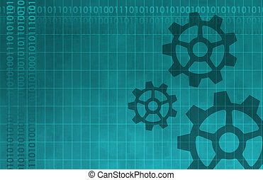 Technology Background with Cogs A Design Abstract