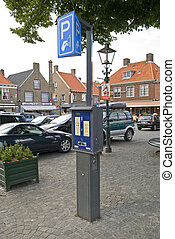 Parking meter in a dutch street