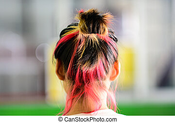 Back of Colorful Dyed Hair