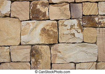 Unshaped stone wall can be a background