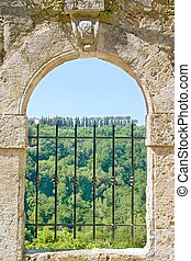 Old Tuscany window - Photo shows a detail of the old Tuscany...