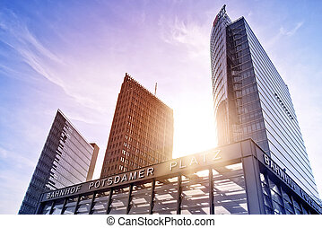 Potsdamer Platz - Train Station Potsdamer Platz in front of...