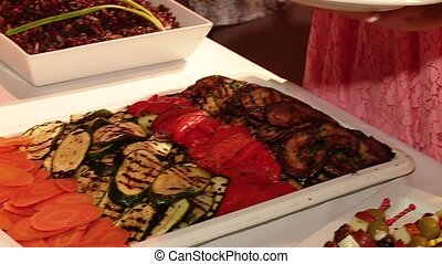 Buffet with Antipasti - video footage of a Buffet with...