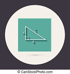 triangle math - triangle math icon