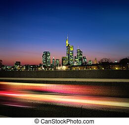 Night megapolis - megapolis in the night and motion light