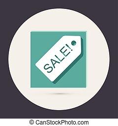 sale label.