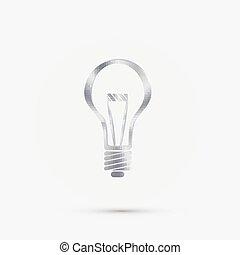 lightbulb. - lightbulb sign.