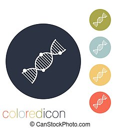 DNA helix Medical Research character Icon