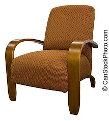 Contemporary Furniture Accent Chair - Contemporary Maple...