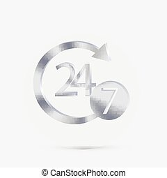 character 24 7. - character 24 7 sign.