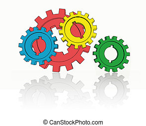 isolated cogwheels