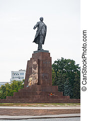 lenin - Lenin statue in the freedom square in kharkiv...