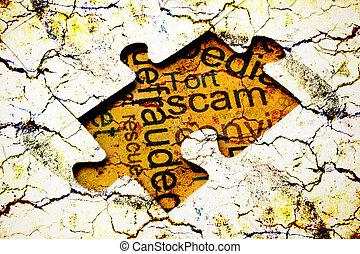 Scam puzzle concept
