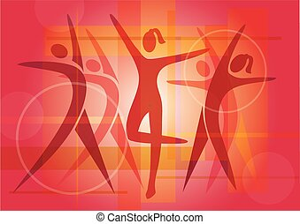 Fitness_dancing_colorful_background - Colorful background...