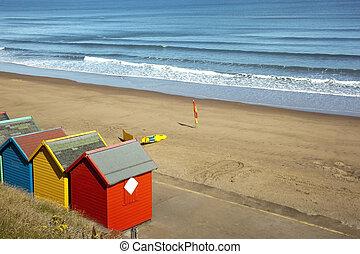 colourful beach huts 3