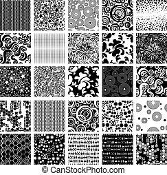 Big vector set of twenty five seaml - Vector set of seamless...