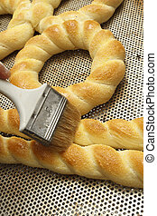 Bakery products in bakery shop