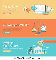 Flat design concepts for education - Flat design vector...