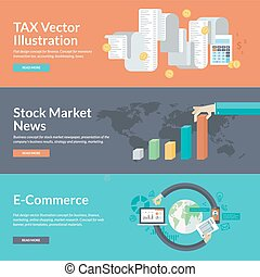 Concepts for business and finance - Flat design vector...