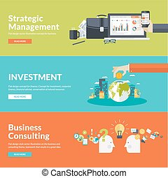 Flat design concepts for business - Flat design vector...