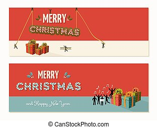 Merry Christmas teamwork cooperation - Teamwork...
