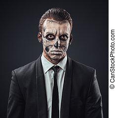 blunt businessman with makeup skeleton - blunt businessman...