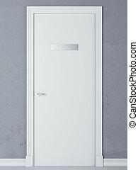 door with nameplate
