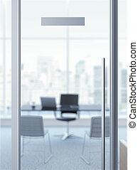 office door with nameplate - glass office door with...