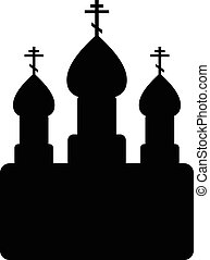 Orthodox church icon on white background Vector illustration...