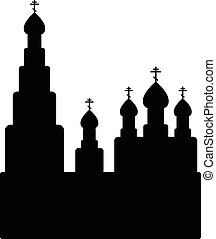 Orthodox church icon on white background. Vector...