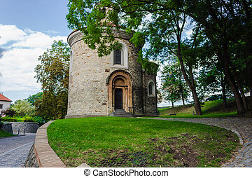 the Rotunda of St Martin in Vysehrad - View of the the...