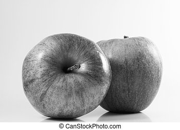 Black White Apple - Black and white apple fruit Its a...