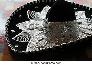 Mexican sombrero fiesta - sequin and decorative ornate...