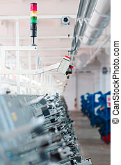 system emergency stop conveyor on the factory