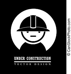 Industry design over black background, vector illustration