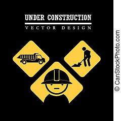 Industry design over black background, vector illustration