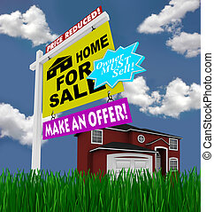 Home for Sale Sign - Desperate to Sell House - A home for...