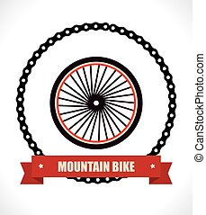 Bike design over white background, vector illustration