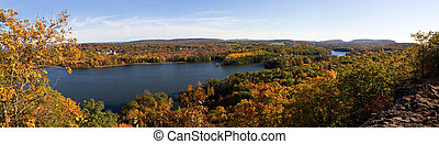 New England Fall Foliage - A shot of New England during...